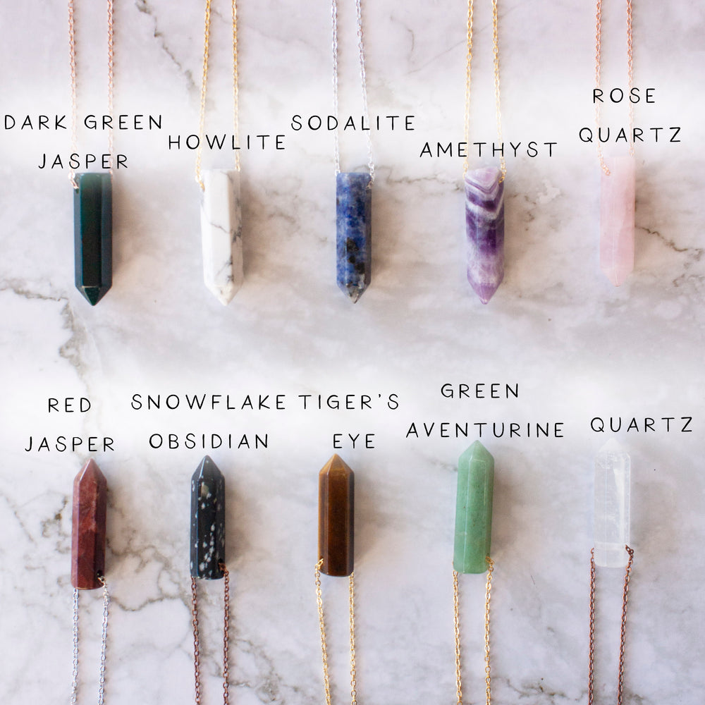 Customize a point crystal necklace