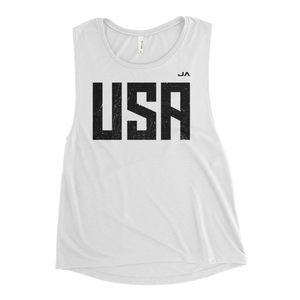 Ladies' USA JA Muscle Tank