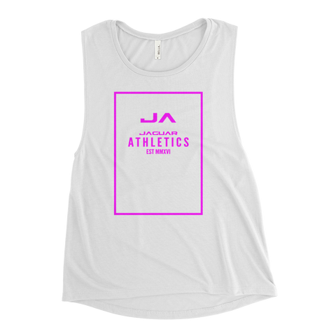 Jaguar Fuchsia Ladies Muscle Tank