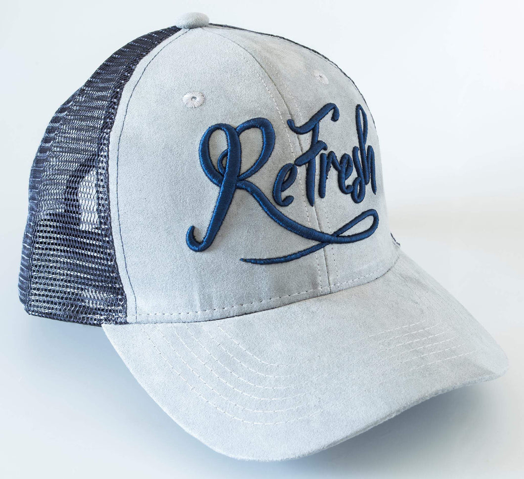 Grey Mesh Trucker Cap