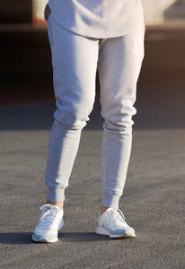 Grey Fitted Tracksuit Bottoms