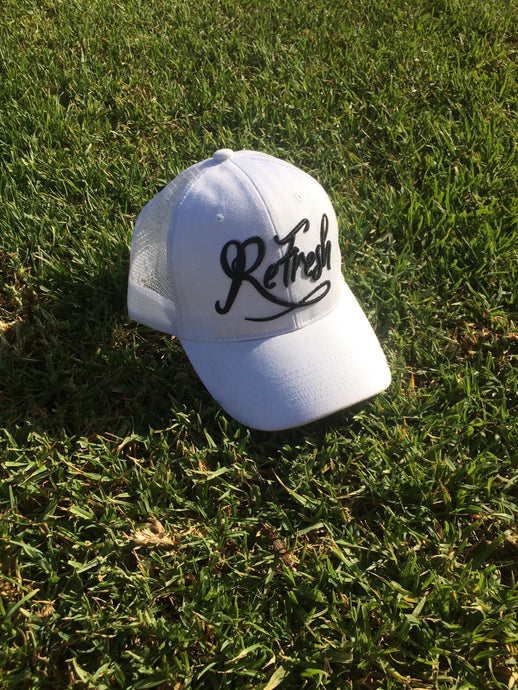 Black & White Mesh Trucker Cap