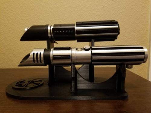 Double lightsaber stand
