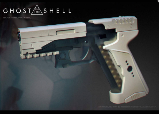 Major's Thermoptic Pistol and leg holster, Ghost in the shell