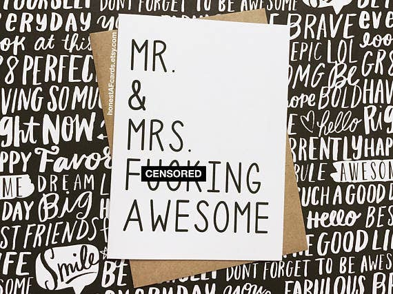 Mr & Mrs F*ing Awesome Card