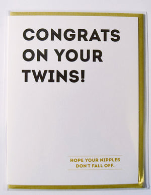 Congrats On Your Twins