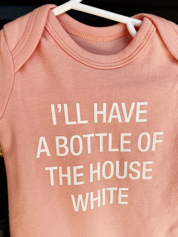 The House White Onesie 3-6 mo