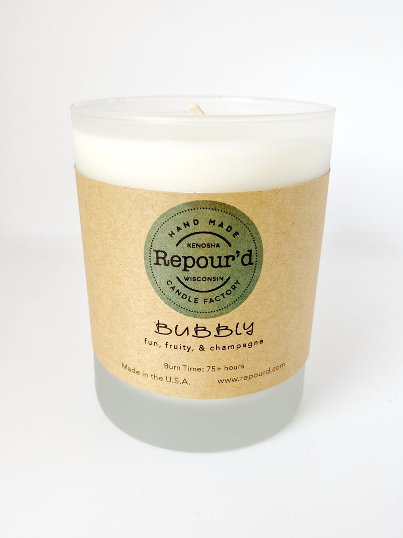 10 oz Frosted Glass Candle