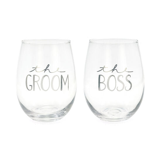 The Groom/The Boss Wine Set