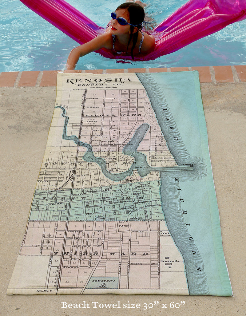 Kenosha Beach Towel