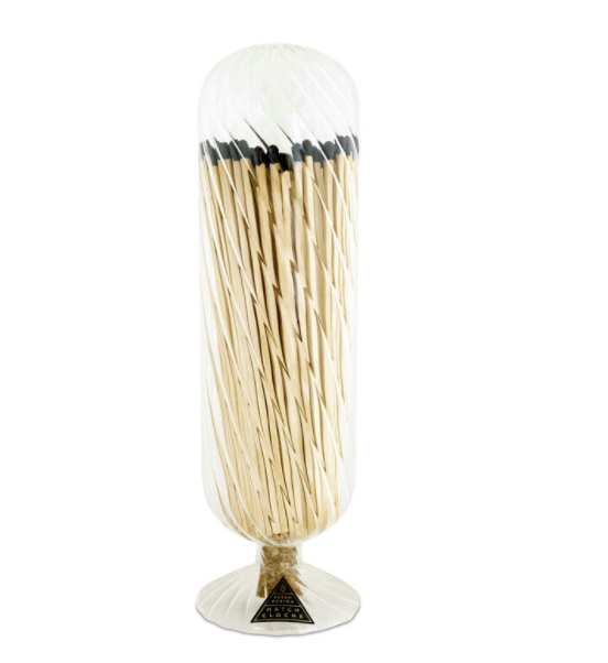 Ribbed Fireplace Match Cloche