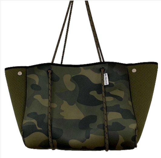 Army Camo w/Solid Army Perforated Sides Tote