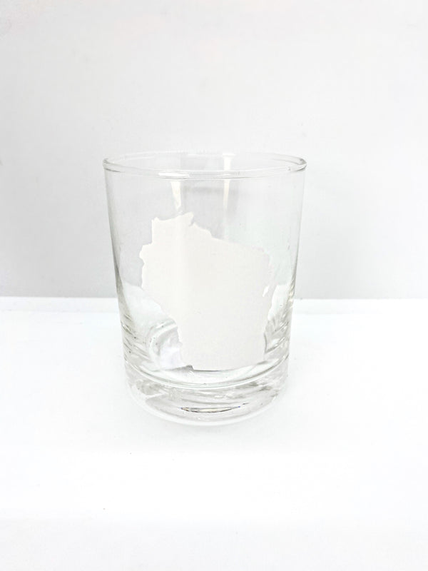 WI State Rocks Glass