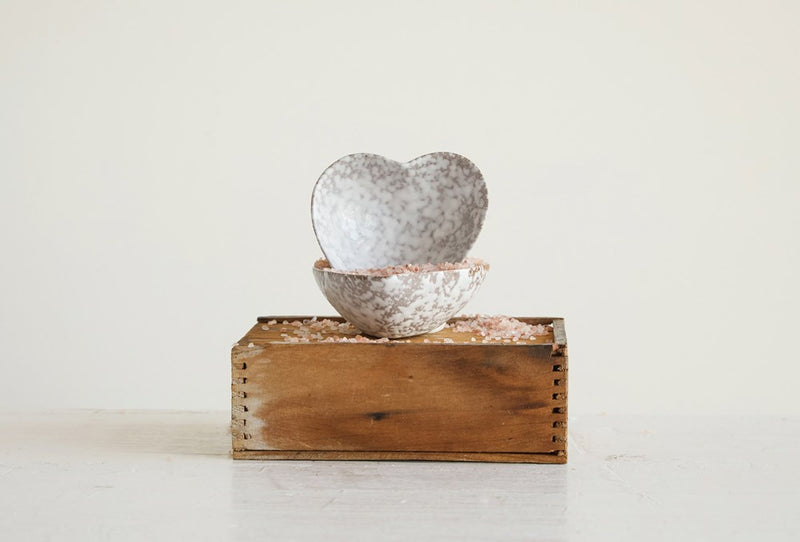 Heart Trinket Dish - Antique White