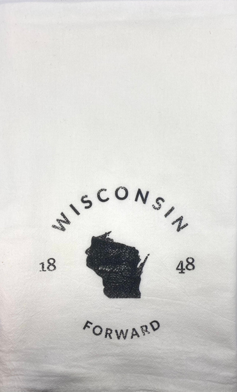 WI State Badge - Tea Towel