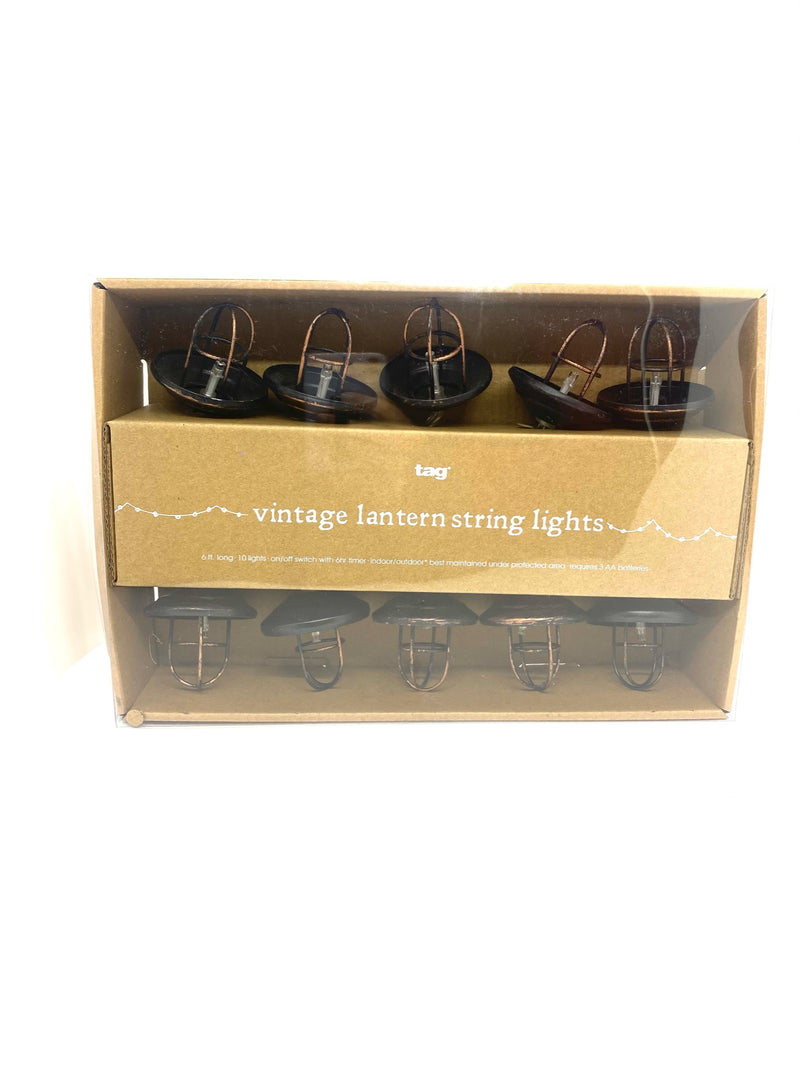 Vintage Lantern LED String Light
