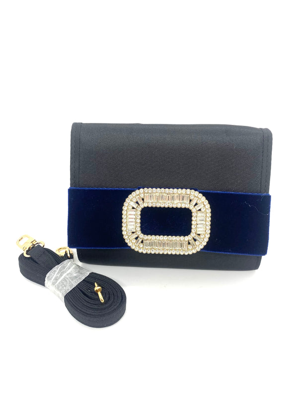Eleanor Purse - Navy with Gold