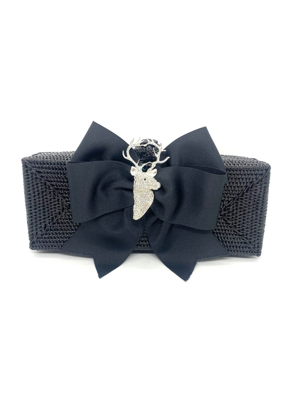 Colette Purse - Black With Stag
