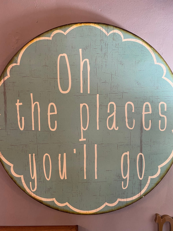 Places You'll Go Metal Wall Decor