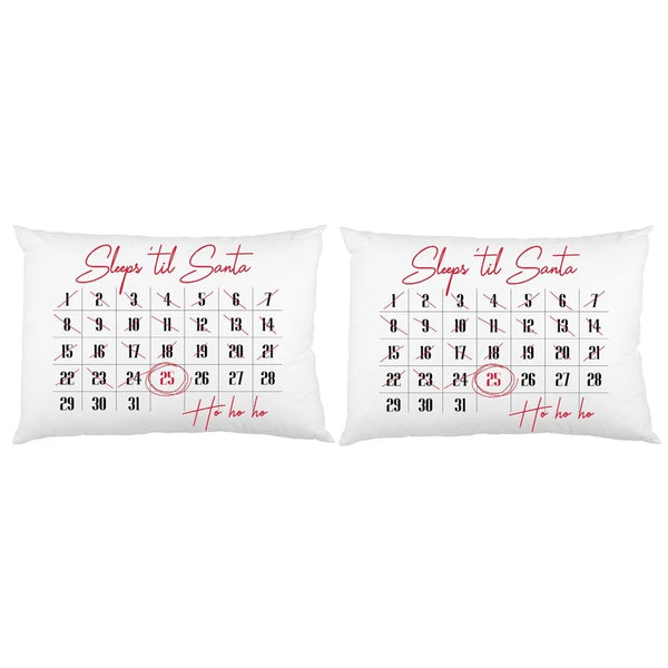 Sleeps Till Santa Pillow Case Set