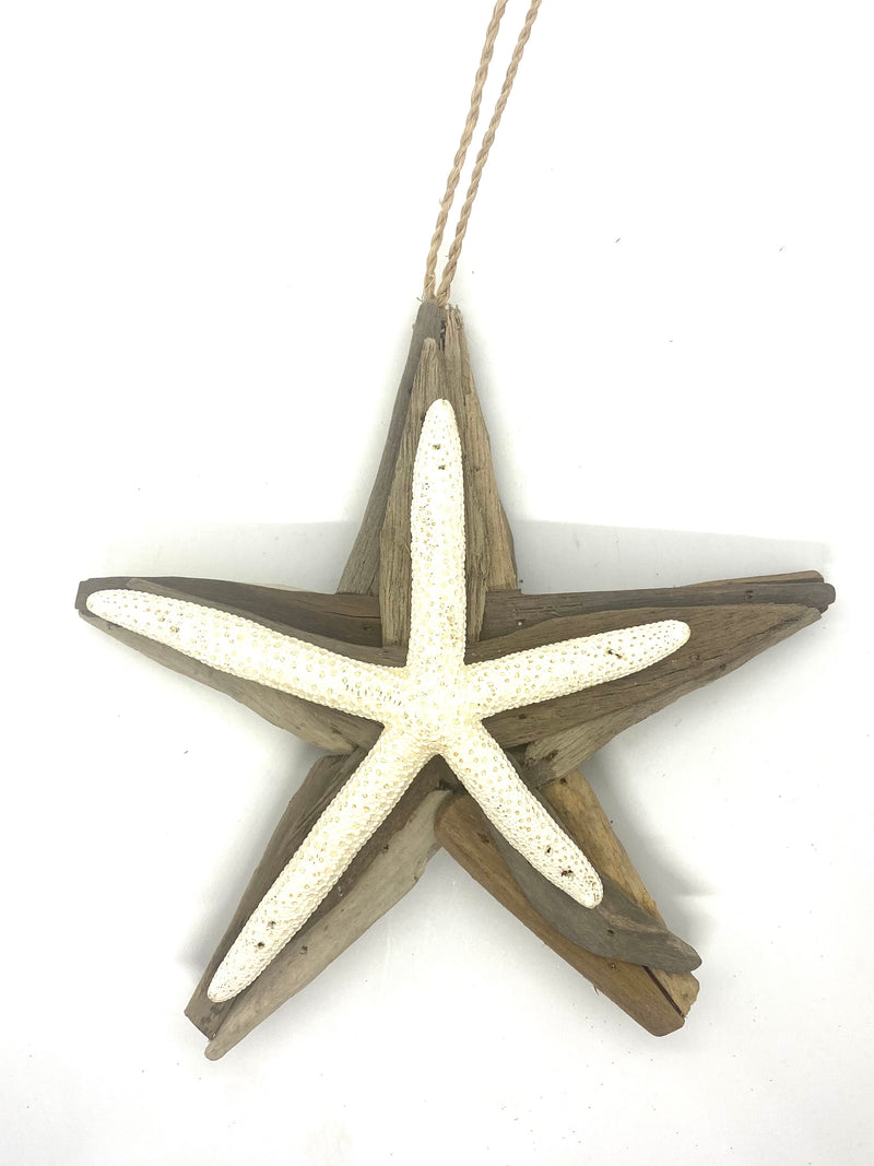 White Driftwood Star