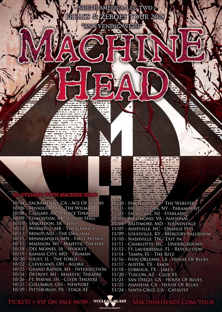 MACHINE HEAD ANNOUNCE NORTH AMERICAN TOUR!