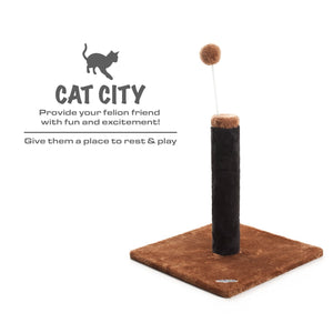 Cat Scratching Post - Blue/Brown