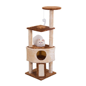 Cat Tree with Scratching Posts- Brown /Beige