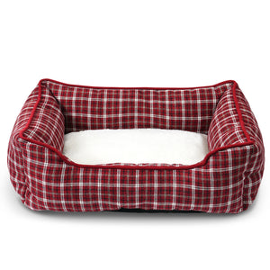 Classic Pet Bed - Red Plaid