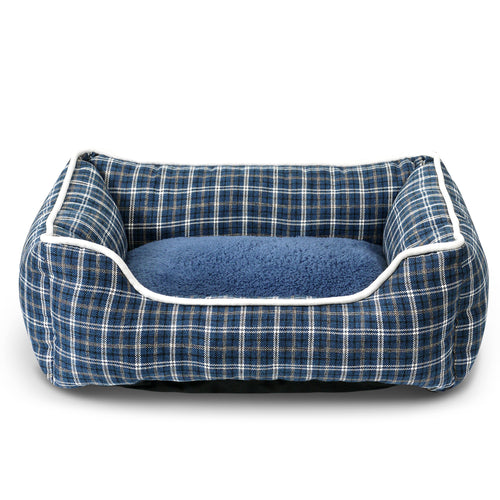 Classic Pet Bed - Blue Plaid