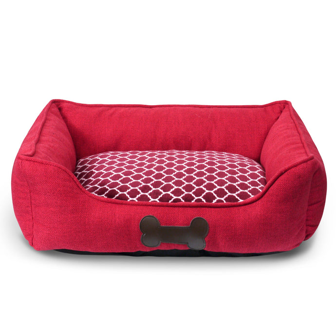 Luxury Plush Pet Bed - Red
