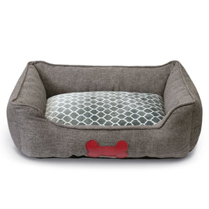 Luxury Plush Pet Bed - Grey