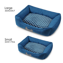 Luxury Plush Pet Bed - Blue