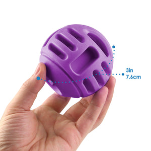 Tough Treat Handle Ball - Purple