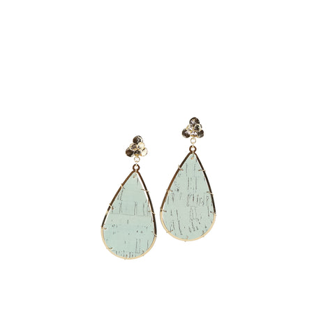 Earrings Miami Teal Cork