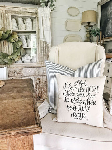 Pillow Cover Psalm 26:8
