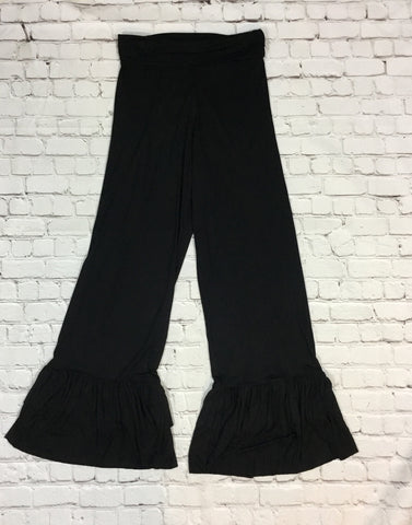 Pants with Ruffle Hem