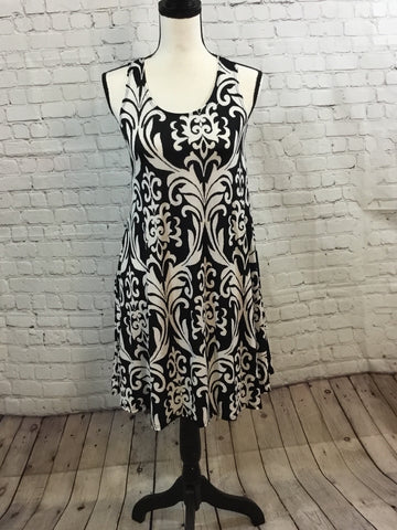Dress Tank Damask Print Asstd.