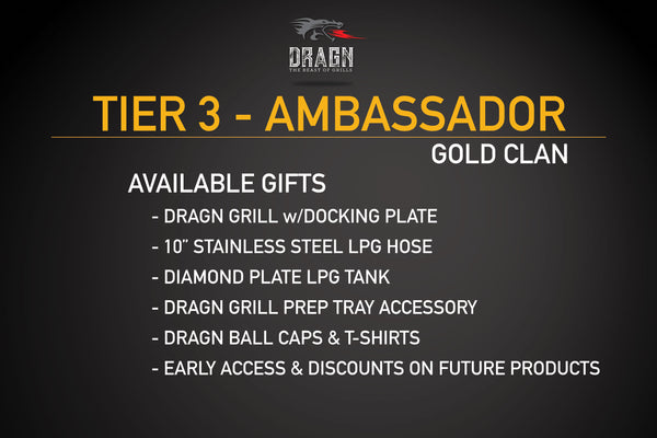 TIER 3: GOLD AMBASSADOR CLAN (LIMITED 250)