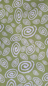 swirl fabric avo green