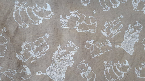 rhino fabric white