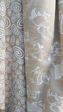 swirl fabric white