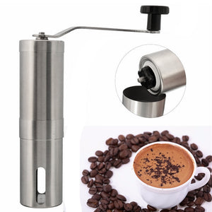 Coffee Bean Grinder Stainless Steel Hand Manual Handmade Grinder Mill Kitchen Grinding Tool J2Y