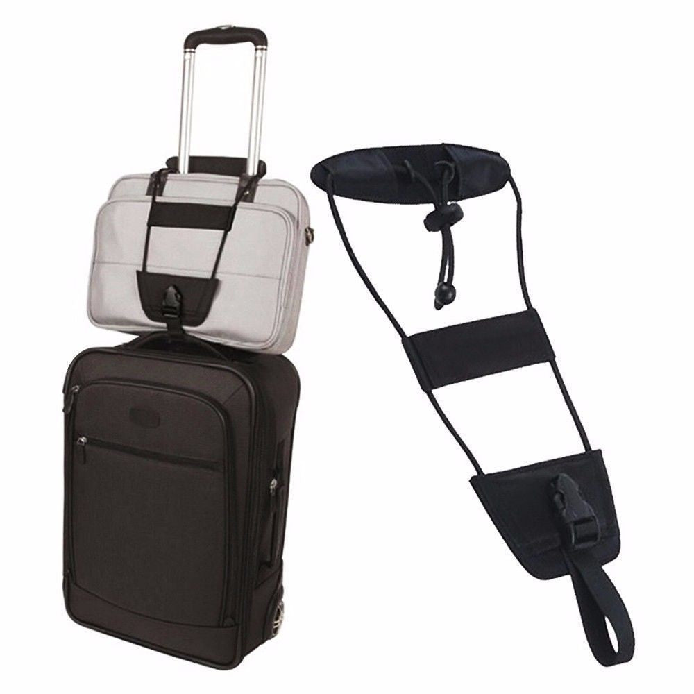 2 Pcs Add A Bag Strap Storage Box Travel Luggage Suitcase Adjustable Belt Carry On Bungee Strap