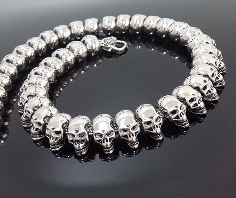 """Apostles Army"" Stainless Steel Skull Necklace"