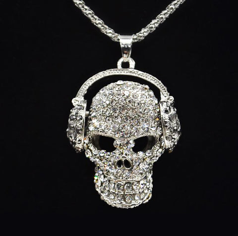 """Big Girl"" DJ Diamond Skull Necklace"