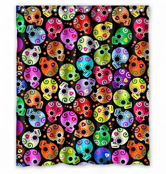 Candies Sugar Skull Shower Curtain
