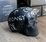 Chalkboard Skull Piggy Bank/Money Bank - side