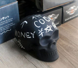 Chalkboard Skull Piggy Bank/Money Bank - top