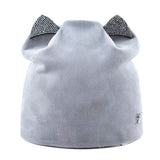 """Diamond Skull"" Cat Ears Winter Hat"
